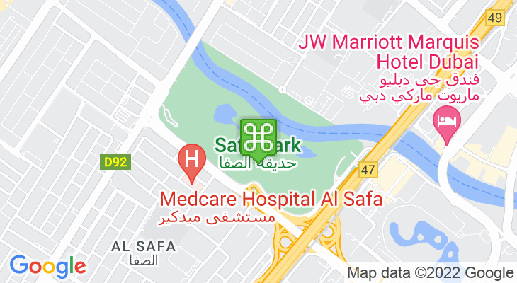 Map showing location of Safa Park