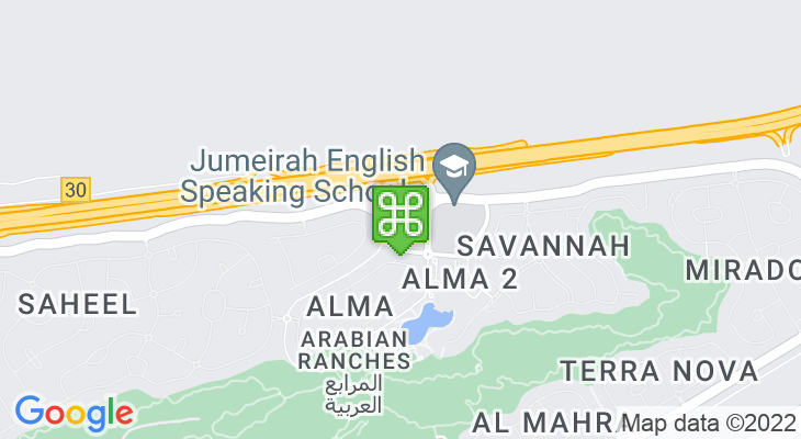 Map showing location of Village Community Centre – Arabian Ranches