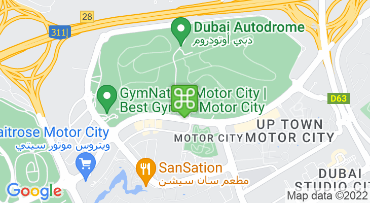 Map showing location of Dubai Autodrome