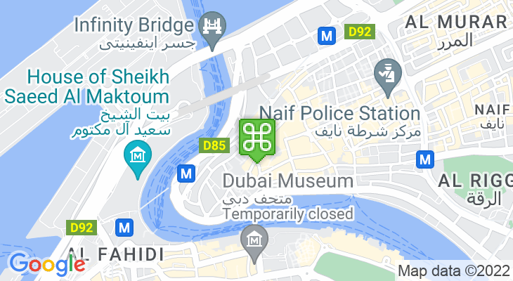 Map showing location of Gold Souk