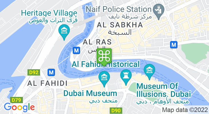 Map showing location of Spice Souk