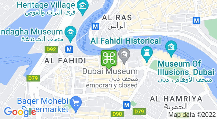 Map showing location of Old Souk
