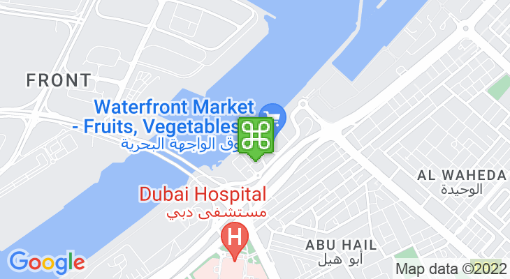 Map showing location of Waterfront Market – Deira Fish Market