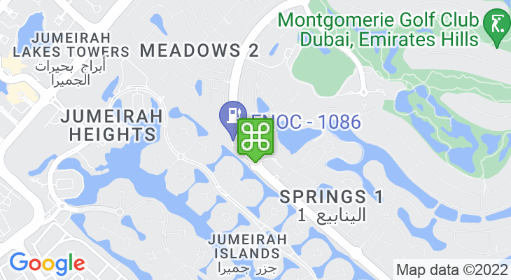Map showing location of Emirates International School – Meadows
