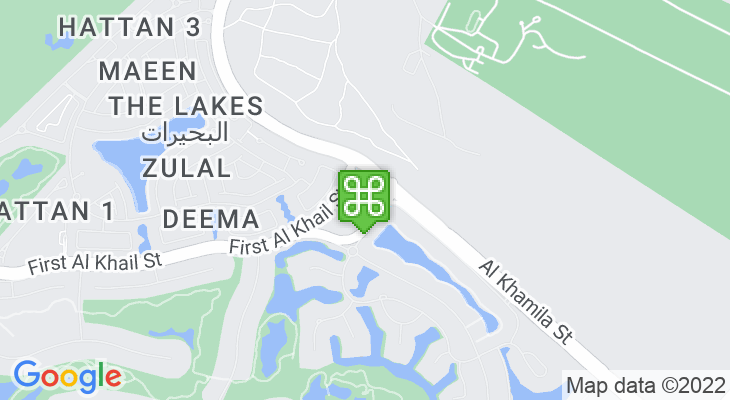 Map showing location of Dubai International Academy