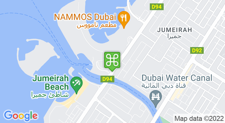 Map showing location of Jumeirah Beach Park