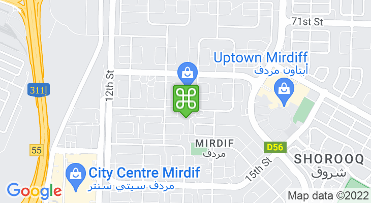 Map showing location of Star International School, Mirdif