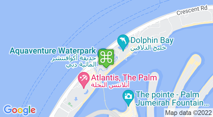 Map showing location of Aquaventure