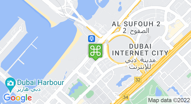 Map showing location of Palm Jumeirah Tram Station