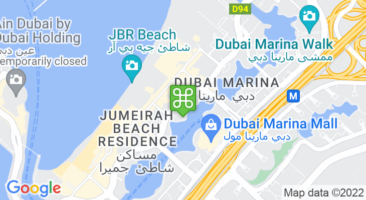 Map showing location of Jumeirah Beach Residence 1 Tram Station