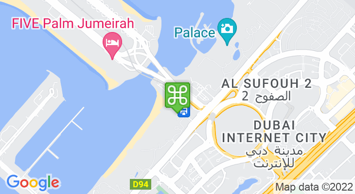 Map showing location of Palm Jumeirah Monorail – Gateway Station