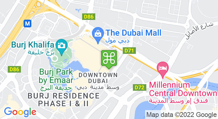 Map showing location of Reel Cinemas Dubai Mall
