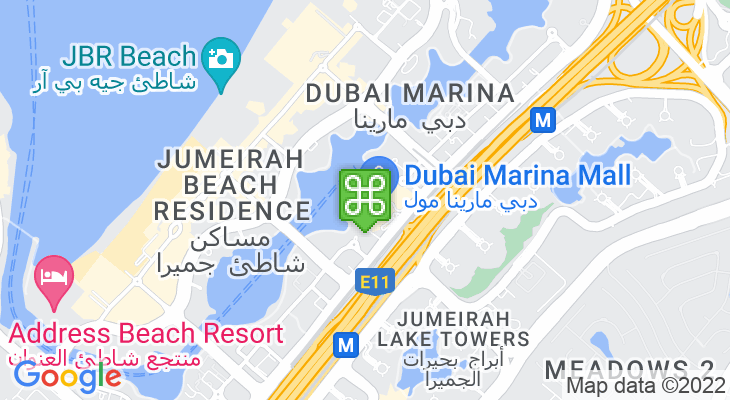 Map showing location of Reel Cinemas Dubai Marina Mall