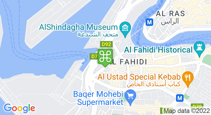 Map showing location of City Centre Al Shindagha