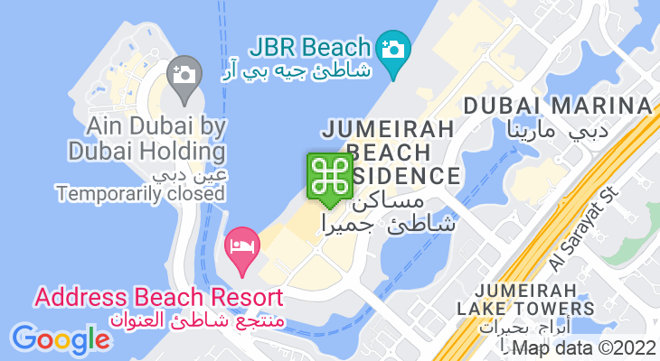 Map showing location of The Beach