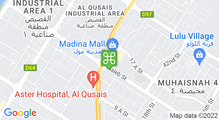 Map showing location of Madina Mall