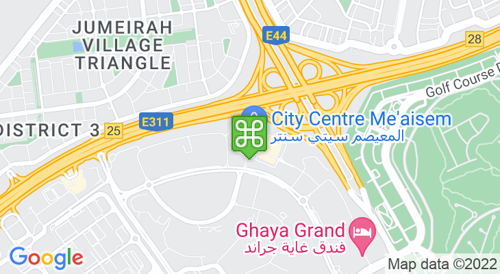 Map showing location of City Centre Me'aisem