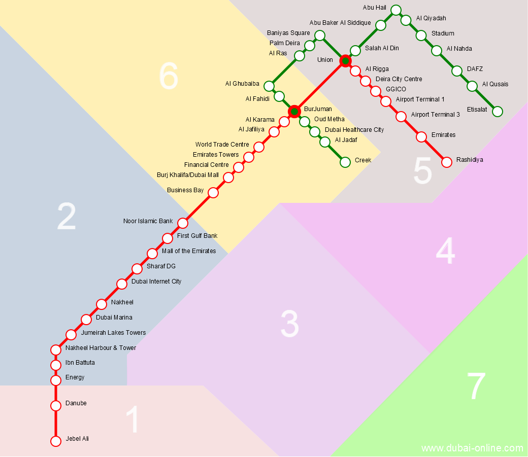Dubai Metro Map | Interactive Route And Station Map