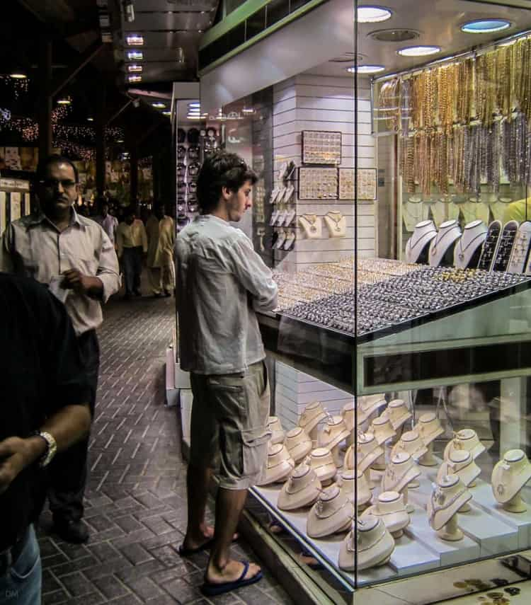 Window shopping at the Gold Souk