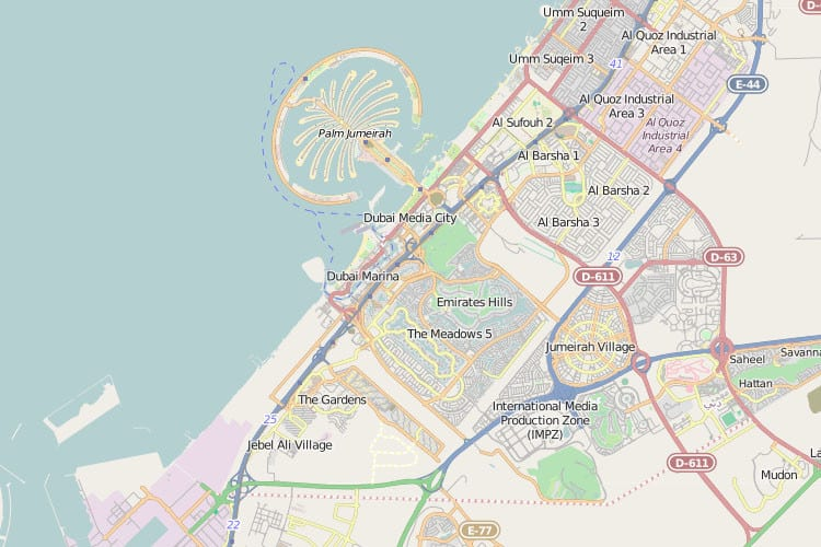 Map of dubai dubai online for Map of dubai hotels