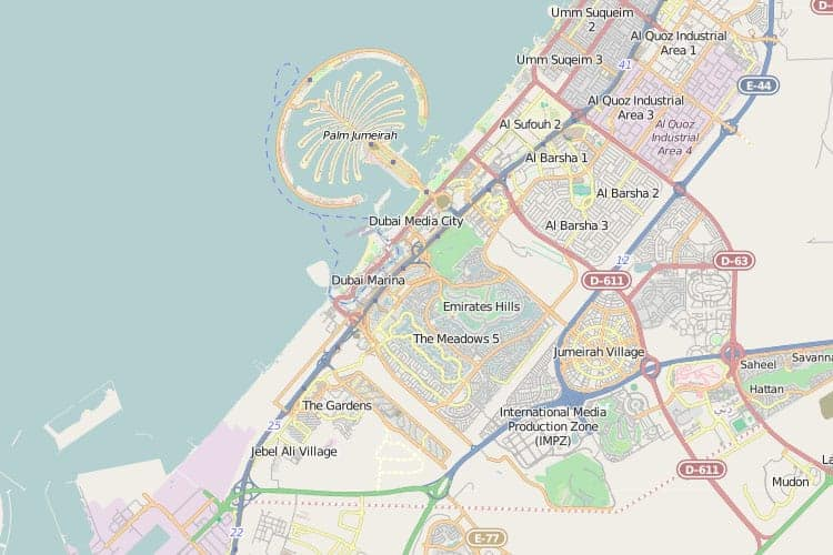 Map of Dubai - Dubai Online