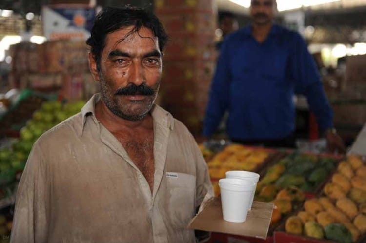 Indian worker at Dubai Fruit and Vegetable Market