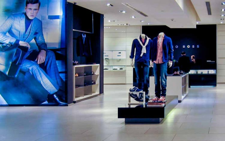 Hugo Boss store at Dubai Mall