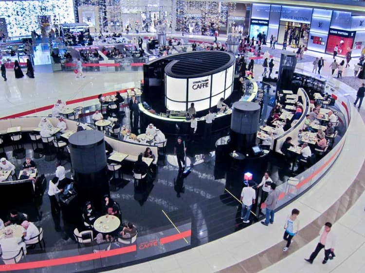 Armani Caffe on Fashion Avenue at the Dubai Mall