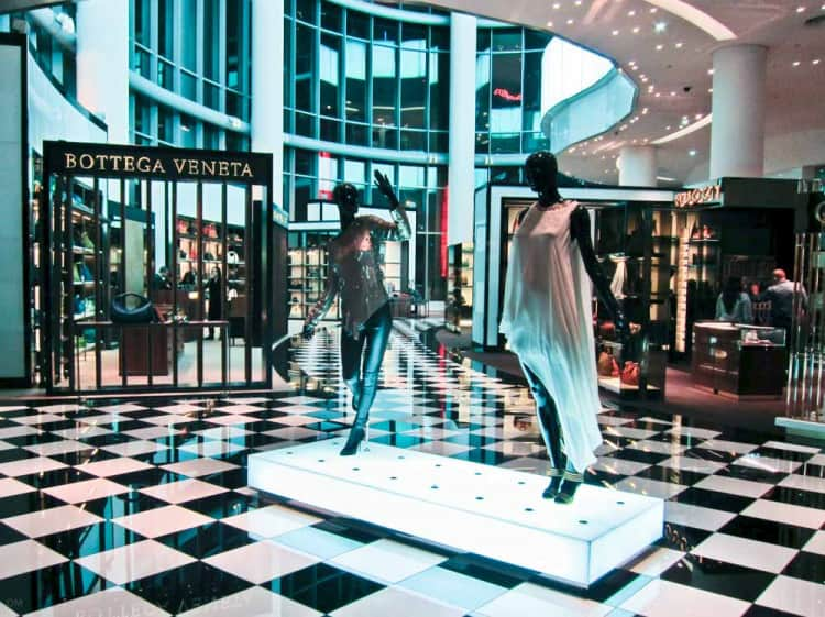 Entrance to the Bloomingdales department store at the Dubai Mall