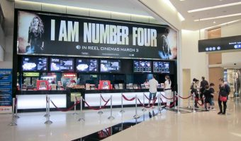 The ticket office at the Reel Cinemas at Dubai Marina Mall