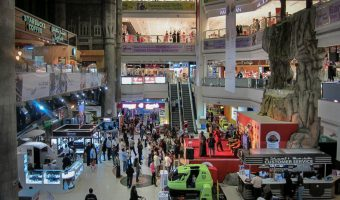 Atrium, Lamcy Plaza shopping mall in Dubai