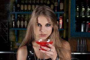 Girl with a cocktail