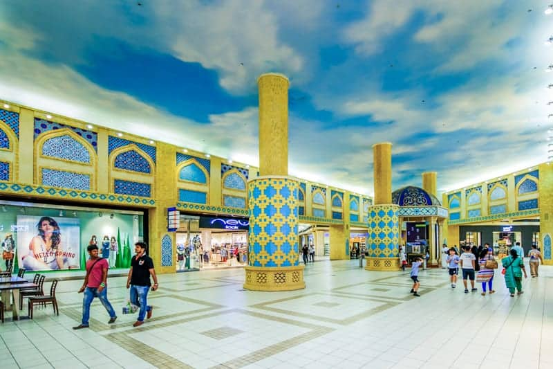 Shoppers at Ibn Battuta Mall