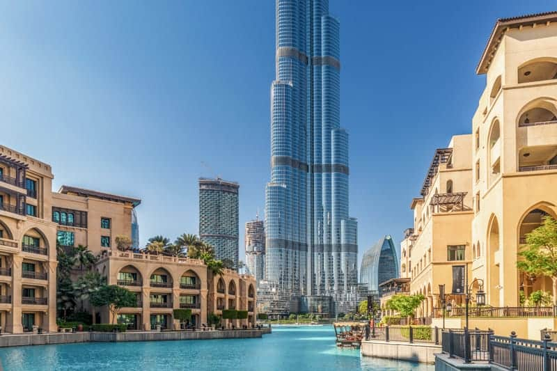 Souk Al Bahar and Burj Khalifa, Downtown Dubai