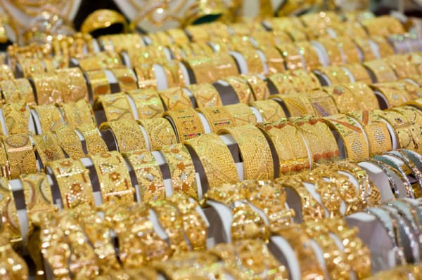 Jewellery in the Gold Souk, Dubai