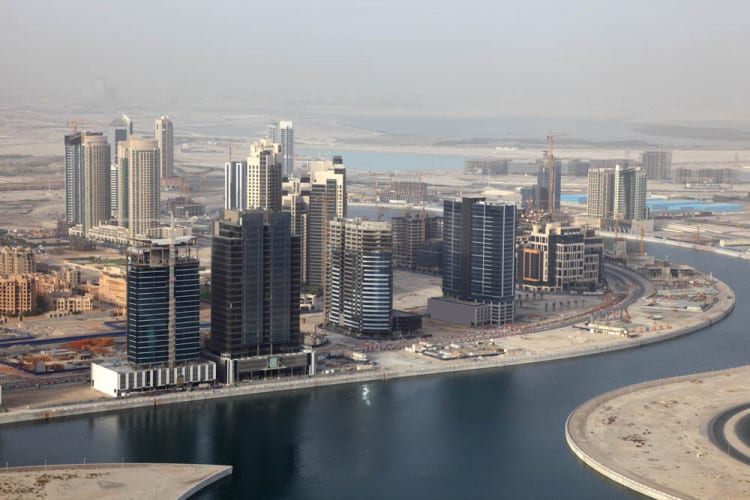 Map of business bay dubai aerial view of the business bay development in dubai gumiabroncs Image collections