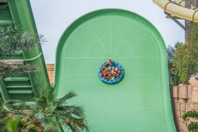 Zoomerango waterslide at Atlantis Aquaventure, Dubai