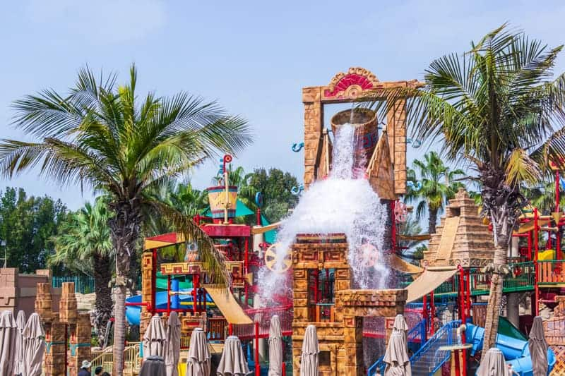 Splashers children's water play area at Aquaventure, Dubai