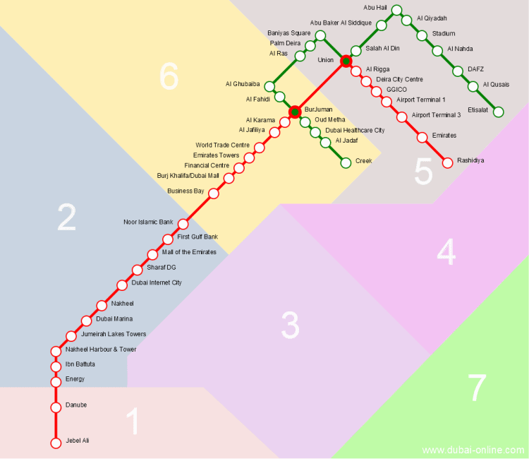 Subway Map Dubai