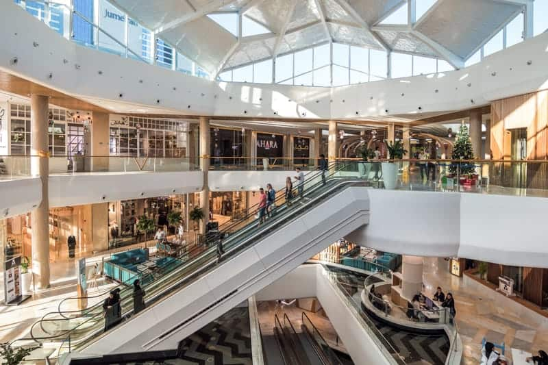 Interior of The Mall, Jumeirah, Dubai
