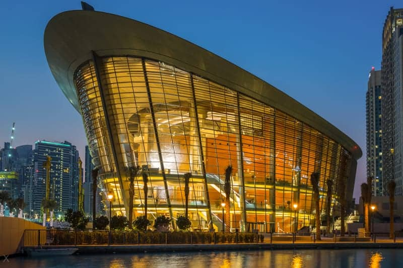 Dubai Opera at night
