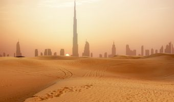 View of Dubai from the desert