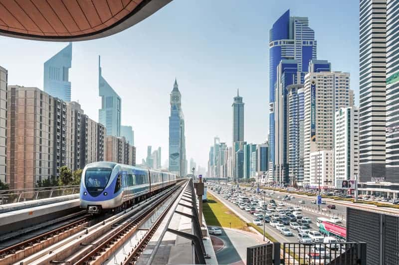 Dubai Metro Red Line and Sheikh Zayed Road