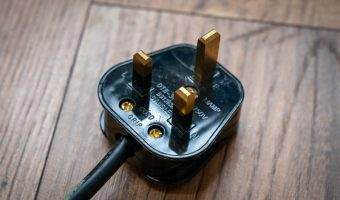 Type G electrical plug used in Dubai, UAE, and the UK