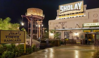 Sholay - The Hunt for Gabbar Singh ride at Bollywood Parks in Dubai.