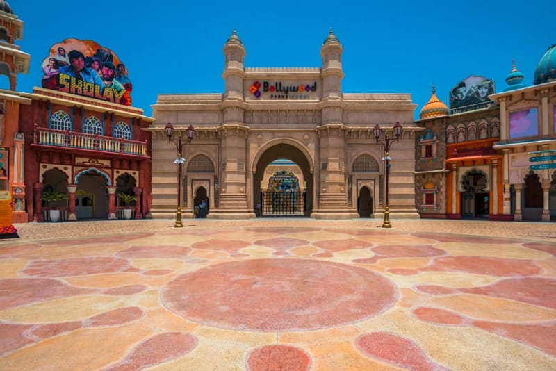Entrance to Bollywood Parks, Dubai Parks and Resorts