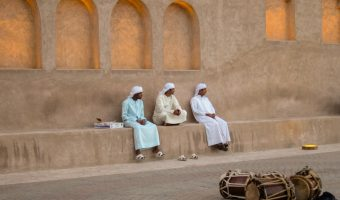 Emirati men in UAE national dress in Bur Dubai