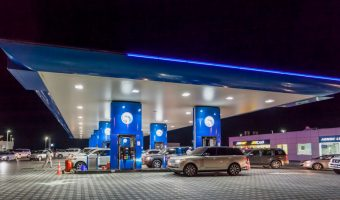 ADNOC Petrol Station in Dubai, UAE