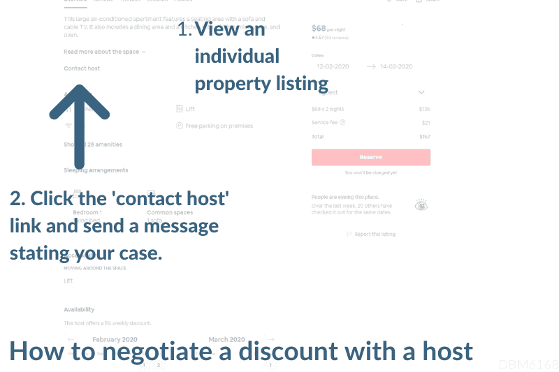 How to contact an Airbnb host and ask for a discount
