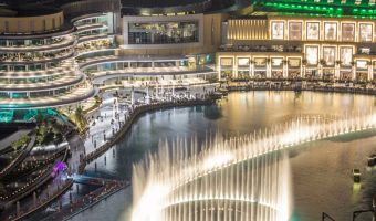 Dubai Fountain show at night